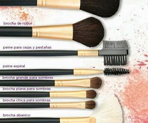 brochas, makeup, and maquillaje image