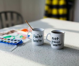 art, cups, and H2o image