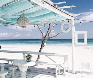beach, paradise, and relax image