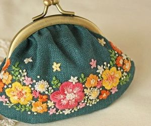 embroidery and flowers image