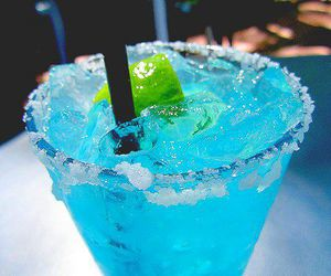 blue and green, drink, and summer image