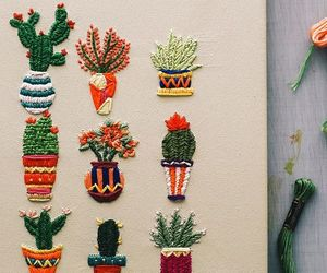 cactus and embroidery image