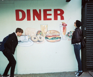 boy, diner, and food image