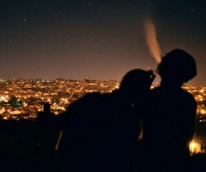 light, city, and couple image