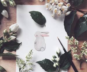 art and rabbit image