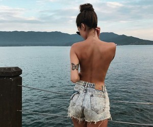 girl, summer, and tattoo image
