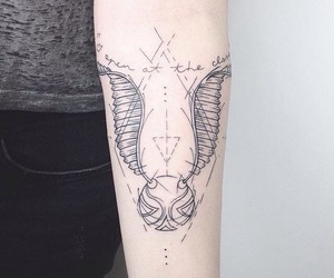 tattoo, harry potter, and snitch image