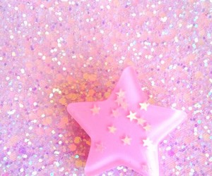 pink, stars, and glitter image