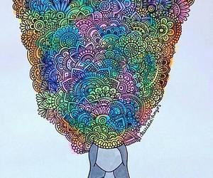 art, zentangle, and mandala image
