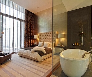 luxury, bedroom, and bed image