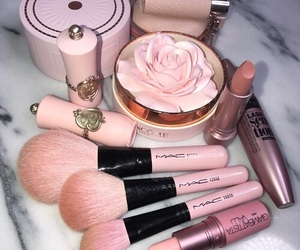 makeup, pink, and mac image