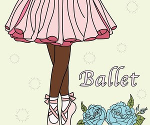 art, ballet, and coloring image