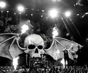avenged sevenfold, a7x, and black and white image