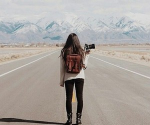 girl, travel, and photography image