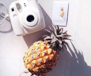 pineapple, polaroid, and summer image