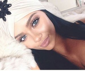 beauty, blue eyes, and lips image