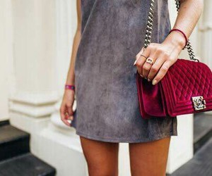 fashion, bag, and dress image