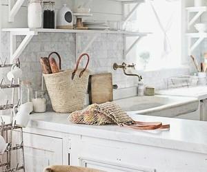 home decor, kitchen, and white kitchen image