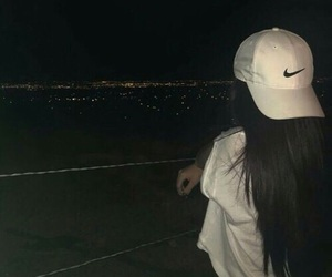 girl, nike, and night image