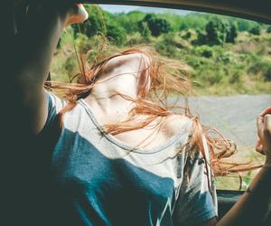 car, hair, and girl image