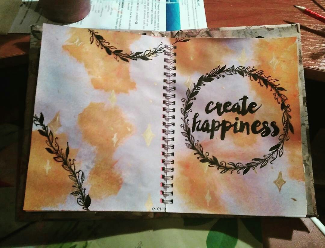 art journal, create, and happiness image