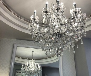 chandelier and interior image