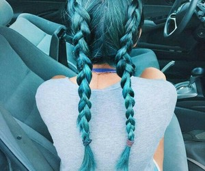 Dream, hair, and blue image