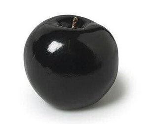 apple, black and white, and b&w image