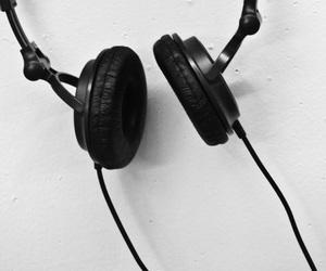 black, headphones, and headset image