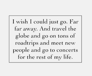 quote, travel, and wanderlust image