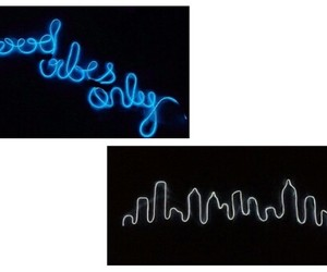 neon, good vibes only, and neon signs image