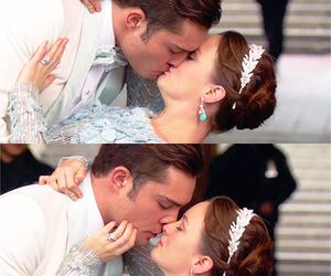 gossip girl, couple, and kiss image