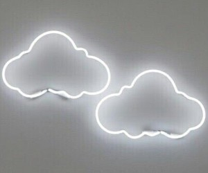 cloud, clouds, and neon signs image