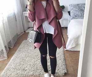 outfit, fashion, and coat image
