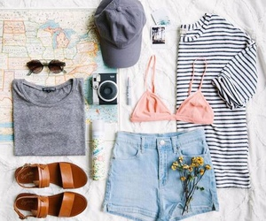 travel, outfit, and summer image