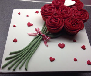 dessert, gift, and roses image