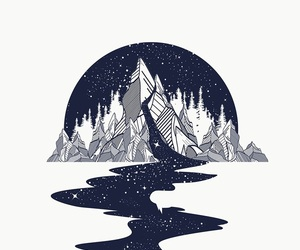 mountains, art, and wallpaper image