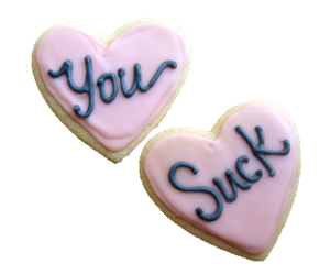 Cookies, you suck, and pink image