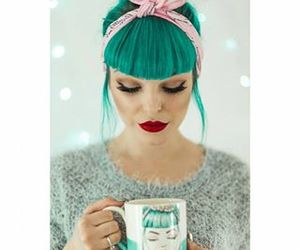 fashion, hair, and mug image