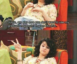 selena gomez, funny, and wizards of waverly place image