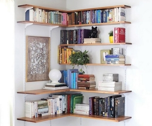 books, home, and shelf image