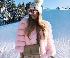 fashion, winter, and pink image