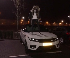 night, boy, and car image