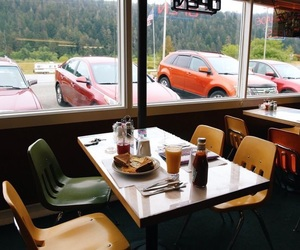 aesthetic, diner, and forest image