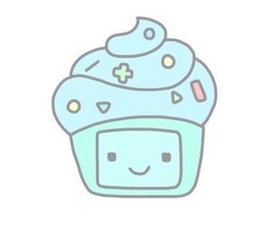 cupcake, bmo, and overlay image