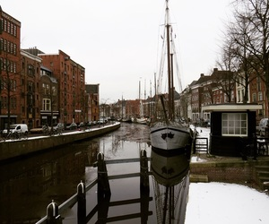boats, netherlands, and brown image