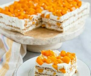 cake, cream, and ice image