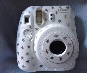 white, camera, and stars image