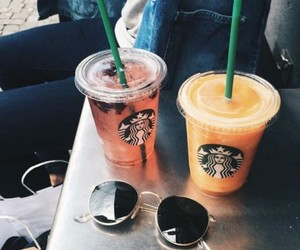 delicious, starbucks, and friends image