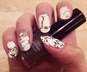 marble, nails, and nailart image